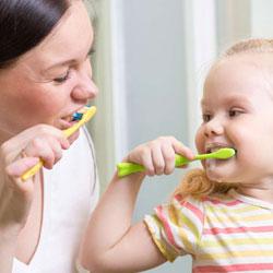Личный пример чистки зубов